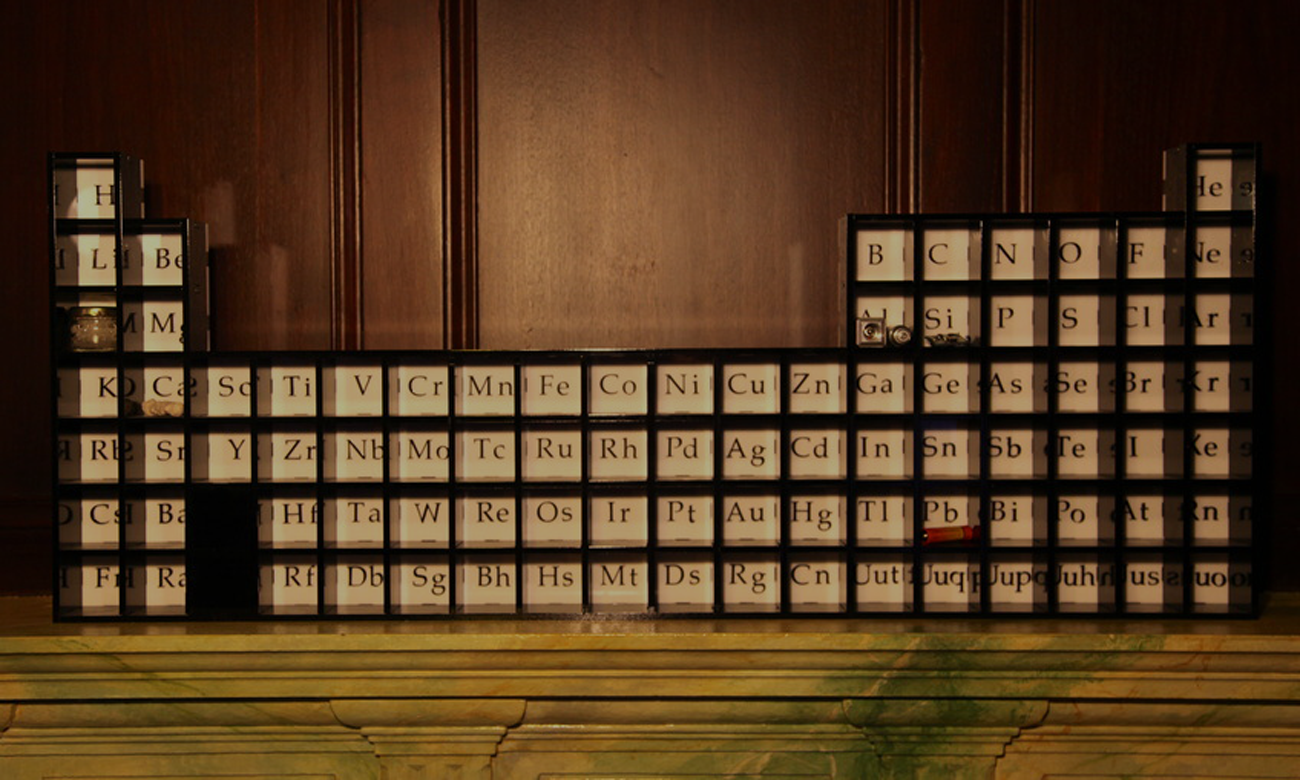 Periodic Table Display Cabinet Shaun Salzberg Design Llc